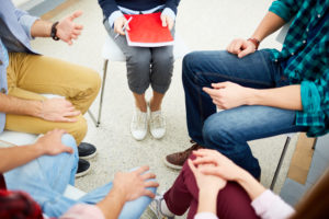 group therapy in rehab
