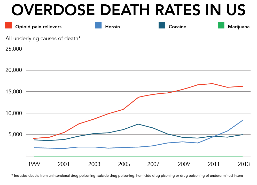 Overdose death rates US